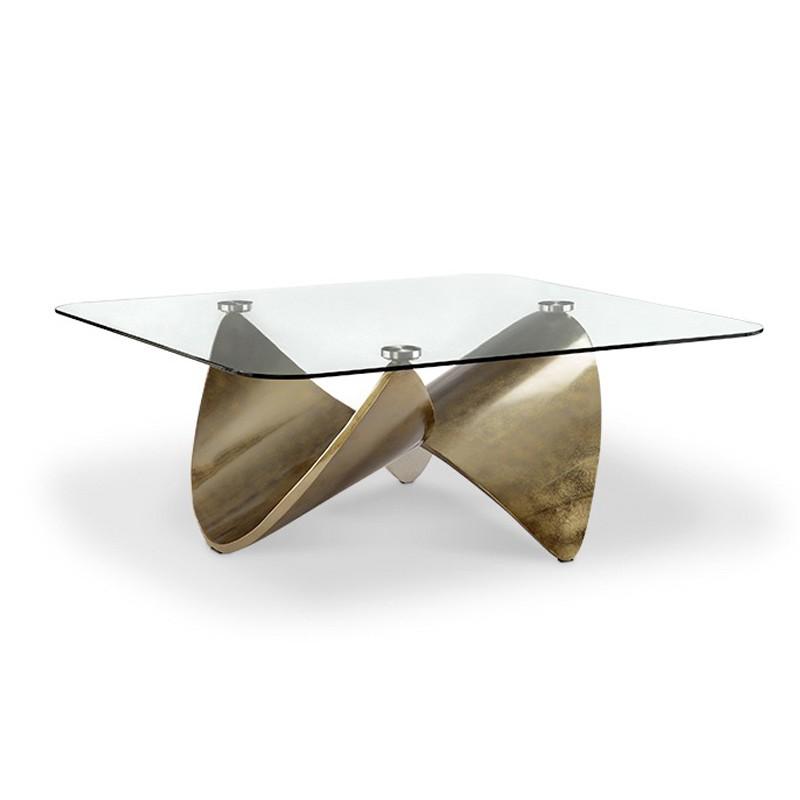 table basse knot drimmer pied metal design plateau verre. Black Bedroom Furniture Sets. Home Design Ideas