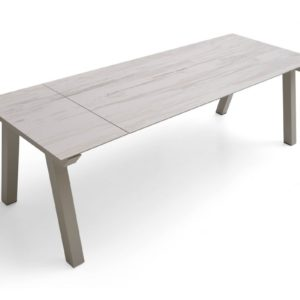Table Pure design céramique ou dekton avec allonges – NORDIC PLUS