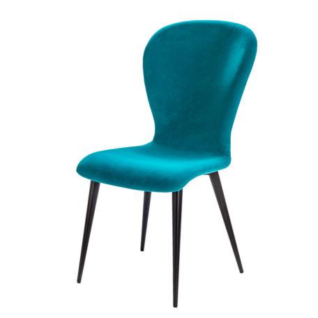 chaise moderne bleu turqoise