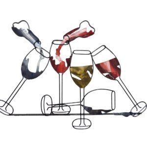 deco murale verres de vin couleurs