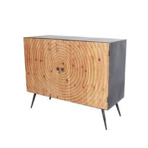buffet 2 portes en bois et metal style indus atelier