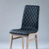 chaise tissu matelasse noir