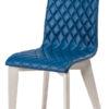 chaise tissu bleu