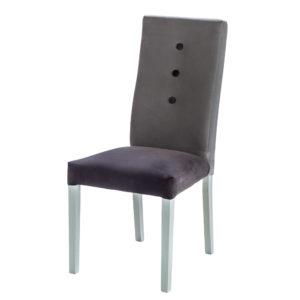 chaise grise bi-ton