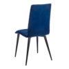 chaise pieds fins rond metal noir coque tissu bleu marine