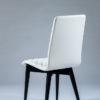 chaise tissu blanc pieds noir