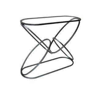 console anneaux pied metal gris original atypique
