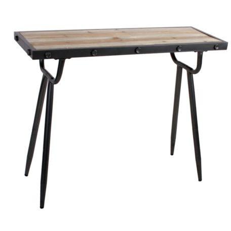 console en bois et m tal style industriel duplex bois. Black Bedroom Furniture Sets. Home Design Ideas