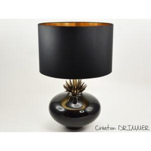 lampe-design-epine-noir-or