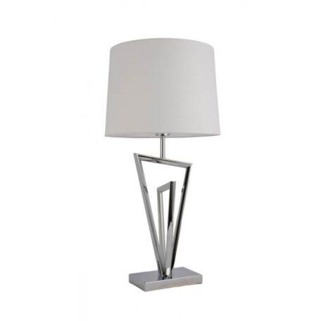 Lampe design losanges argent abat-jour blanc