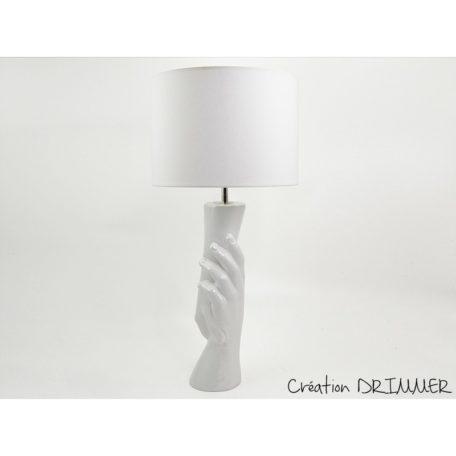 Lampe mains ceramique blanche