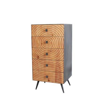 meuble style atelier avec 5 tiroirs