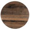 plateau rond bois brut