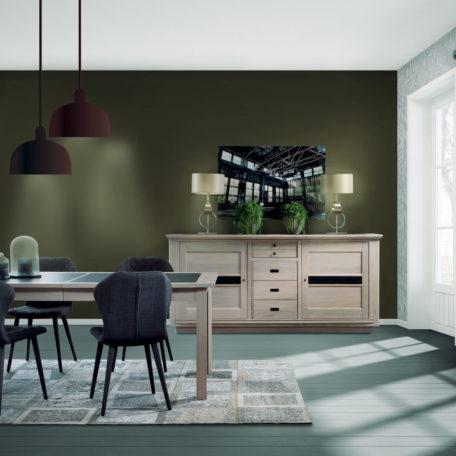 Salle à manger chêne et céramique Ateliers de Langres ...