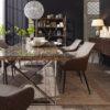 table pieds metal plateau bois