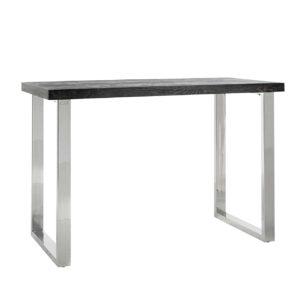 Table de bar haute pieds acier argent design Richmond Interiors – BLACKBONE SILVER