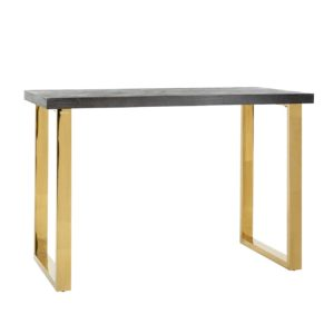Table haute pieds acier or design Richmond Interiors – BLACKBONE GOLD