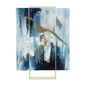 tableau-abstrait-structure-metal-gallery-bleu-blanc-or