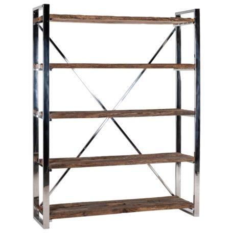 bibliotheque contemporaine bois et metal