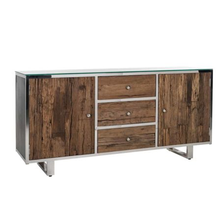 buffet-kensington-brillant-2-portes-3-tiroirs-bois-metal-acier-chrome-argent-richmond-interiors