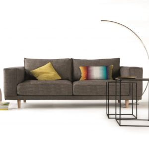 canape epure contemporain marron gris