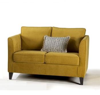 canape confortable tissu jaune