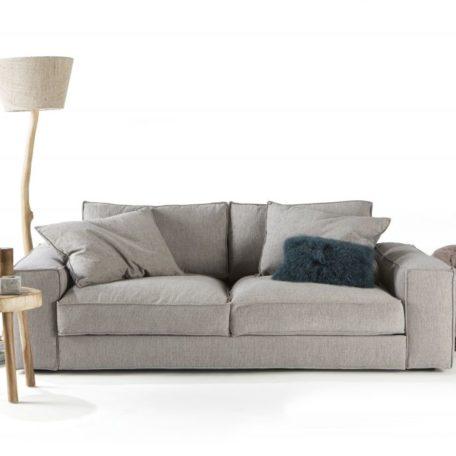 canape confortable tissu gris fabrication francaise