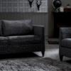 canape haut de gamme tissu gris