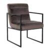 chaise design velvet marron stone pieds fin metal acier noir