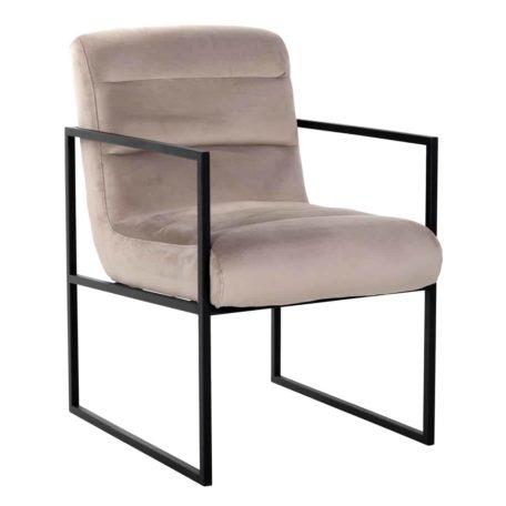 chaise-clara-design-velvet-velours-beige-gris-kaki-pieds-accoudoirs-metal-acier-noir-richmond-interiors-magasin-meubles-chaises-boisetdeco-cambresis-nord-aisnes-picardie