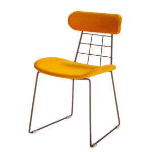 chaise design metal et tissu