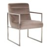 chaise tendance velours argent chrome