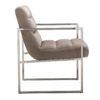 chaise moderne tissu metal argent