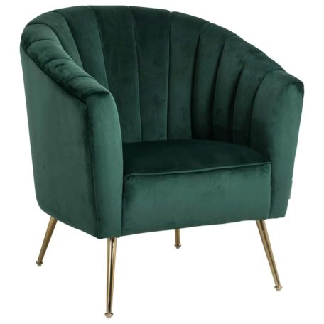 fauteuil velours green vert bouteille pieds gold or