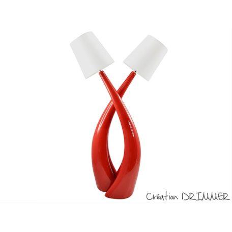 lampe design originale rouge