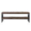 meuble tv style industriel en bois teck metal noir tendance