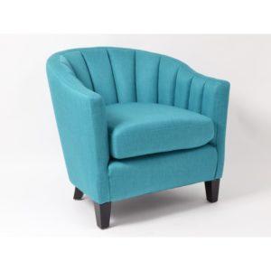 fauteuil bleu turquoise
