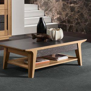 table basse ceramique noire grise