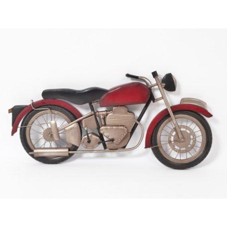 Decoration murale moto vintage rouge/noir