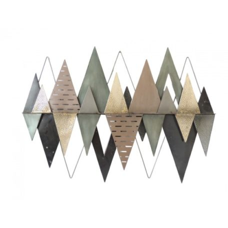Decoration murale metal TRIANGLES DECALES EFFET LOSANGES