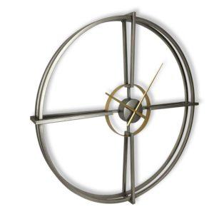 Grande horloge design metal argent et or
