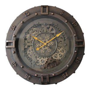 Horloge mécanisme engrenage cadran chrono en métal