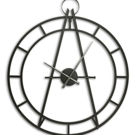 Horloge en metal noir effet cadran