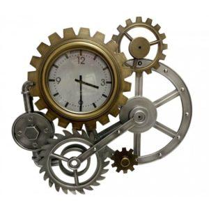 horloge-pendule-engrenages-metal-or-argent-bronze-industriel