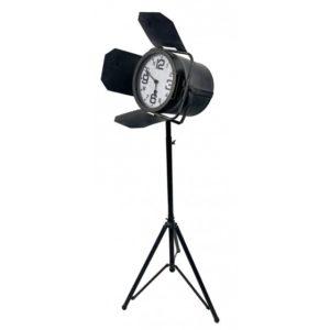 Horloge sur pied en metal spot lumiere cinema