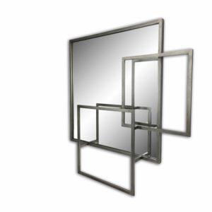 Miroir industriel carres superposes en metal