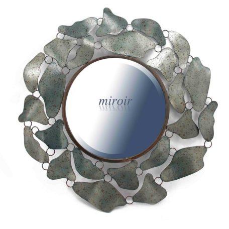 miroir rond en metal