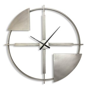 Grande horloge design en metal effet artistique