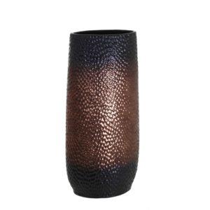 Vase cuivre et noir ogive alveole collection EQUINOXE