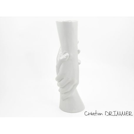 Vase mains blanches en ceramique collection FRIENDS